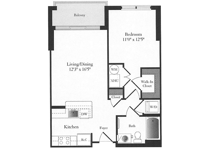 Phoenix - B3 Floorplan - 1 Bed, 1 Bath
