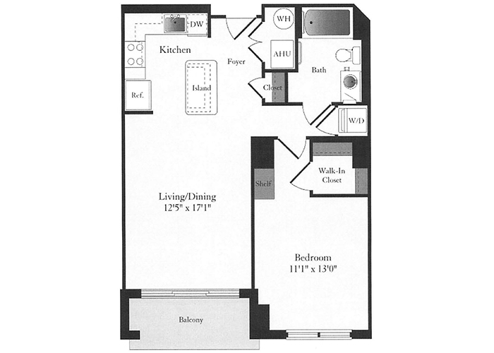 Phoenix - B4 Floorplan - 1 Bed, 1 Bath