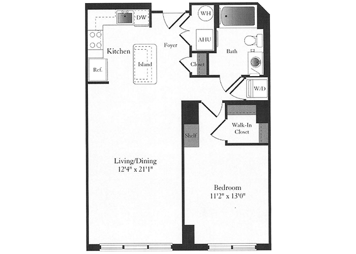 Phoenix - B4.1 Floorplan - 1 Bed, 1 Bath