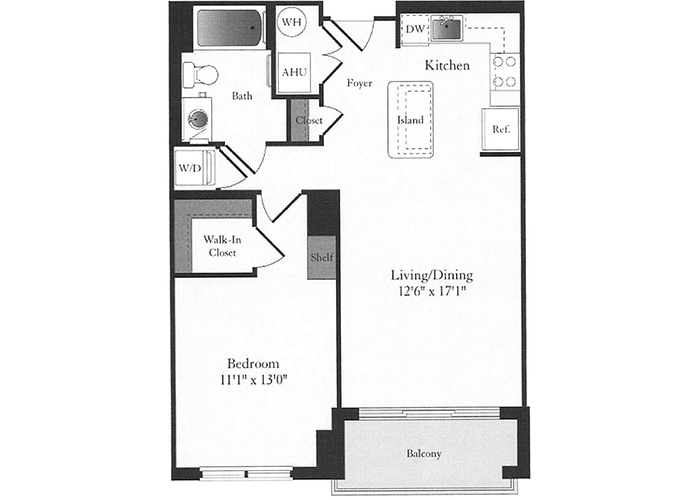 Phoenix - B5 Floorplan - 1 Bed, 1 Bath