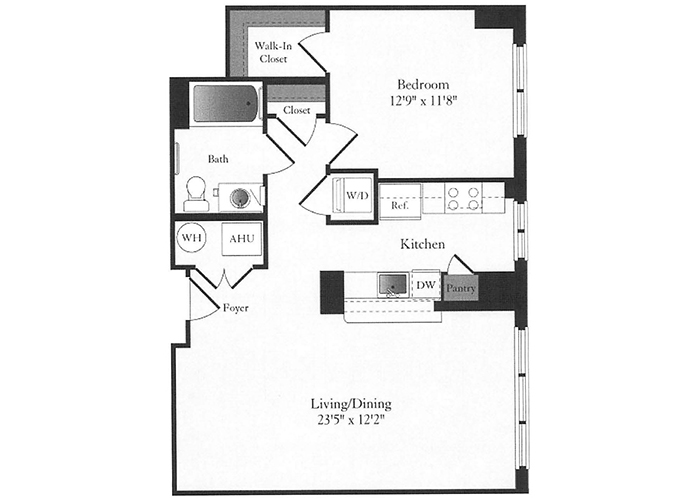 Phoenix - B6.1 Floorplan - 1 Bed, 1 Bath