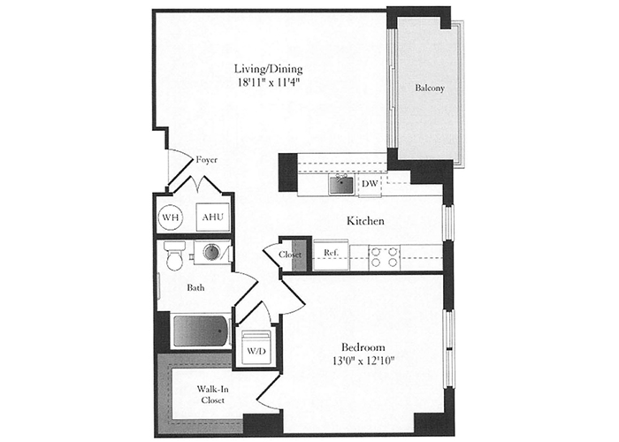 Phoenix - B9 Floorplan - 1 Bed, 1 Bath
