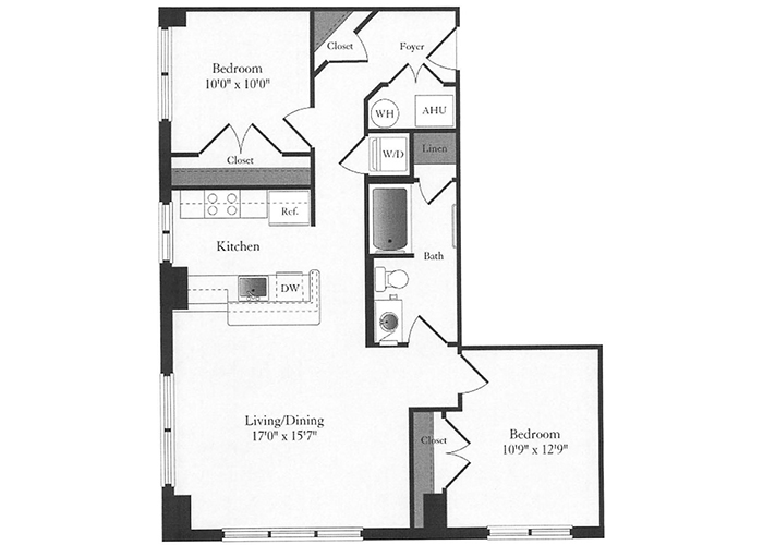 Phoenix - C2 Floorplan - 2 Bed, 1 Bath