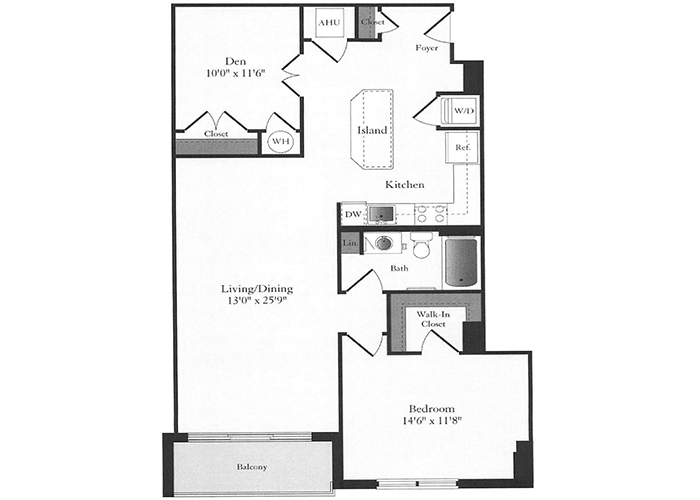 Phoenix - C3 Floorplan - 1 Bed, 1 Bath and Den