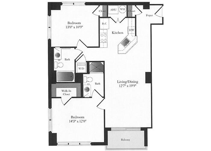 Phoenix - D2 Floorplan - 2 Bed, 2 Bath