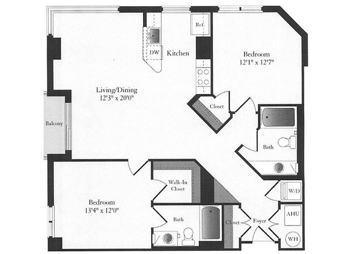 Phoenix - D4 Floorplan - 2 Bed, 2 Bath