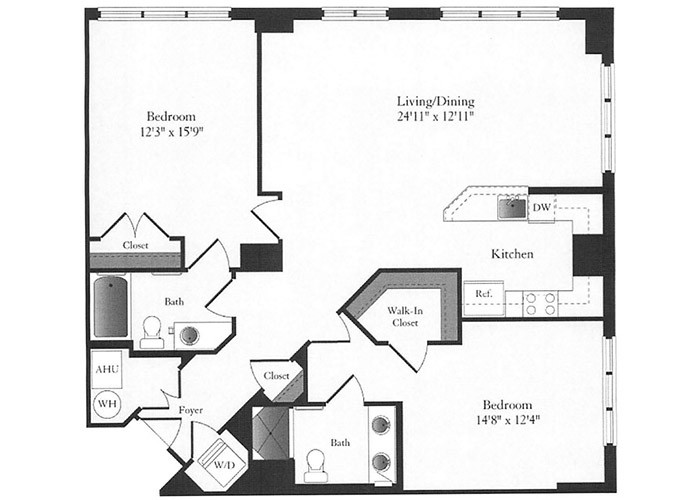 Phoenix - D7.1 Floorplan - 2 Bed, 2 Bath