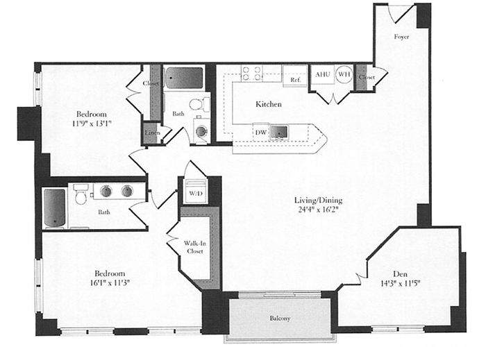 Phoenix - E3 Floorplan - 2 Bed, 2 Bath and Den