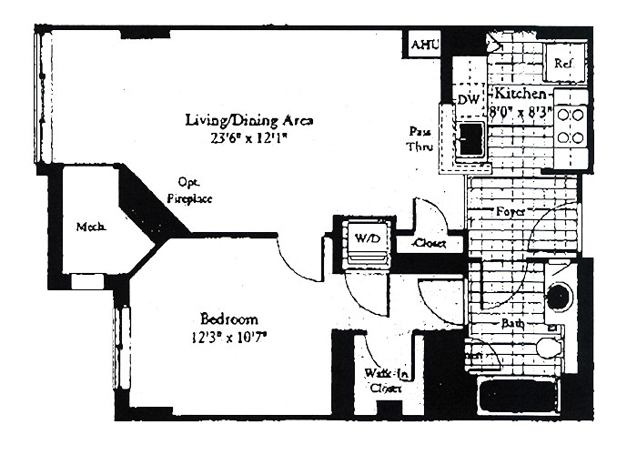 Unit B2B One Bedroom