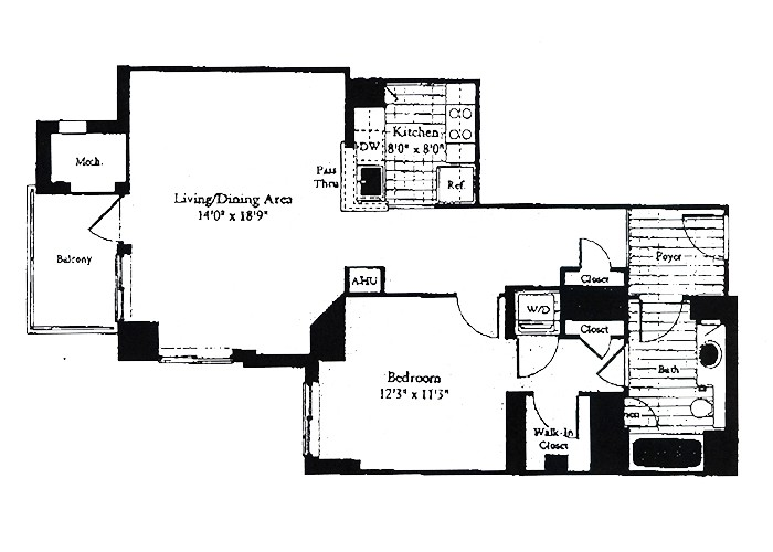 Unit B4 One Bedroom