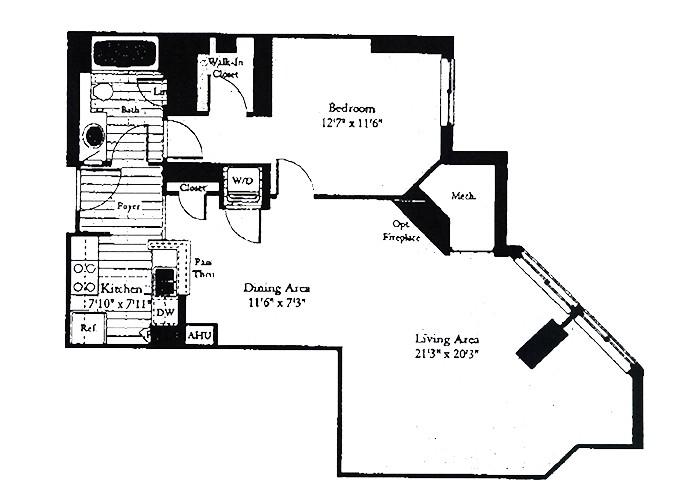 Unit B7 One Bedroom