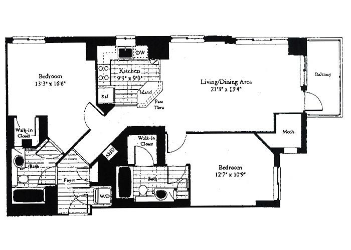 Unit D2 Two Bedroom