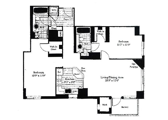 Unit D3 Two Bedroom