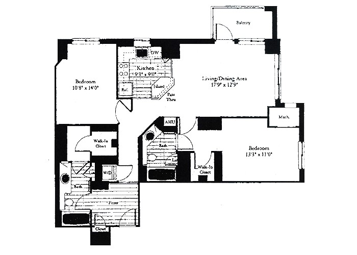 Unit D4 Two Bedroom