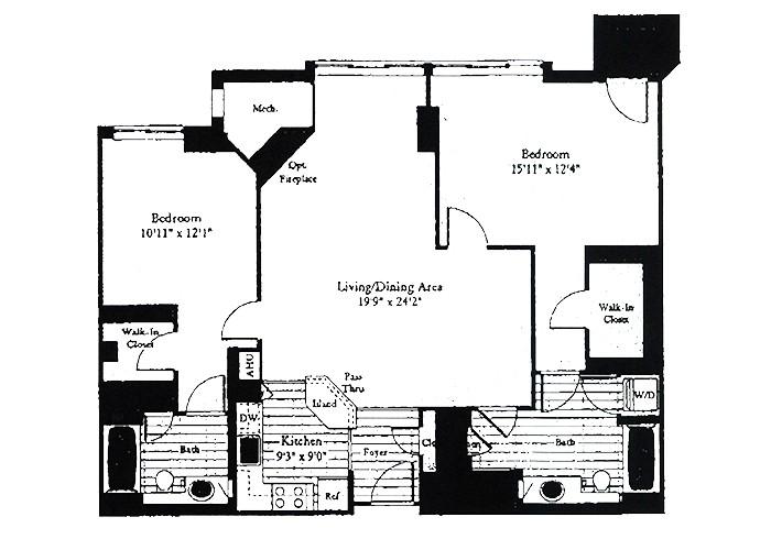 Unit D5 Two Bedroom