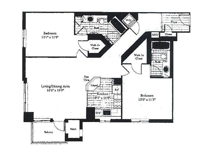 Unit D6 Two Bedroom