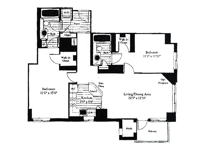 Unit D7 Two Bedroom