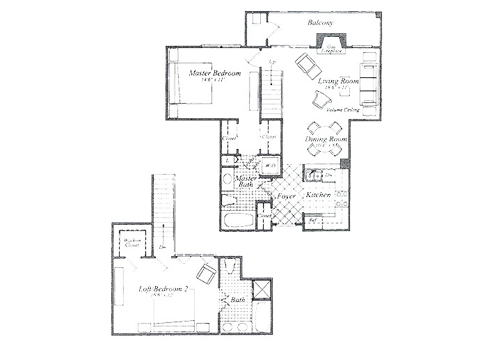 The Brewer Two Bedroom Two Bath
