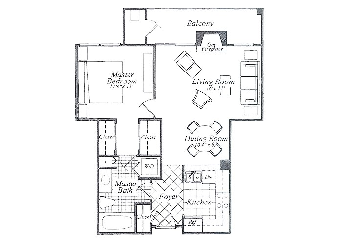 The Duvall One Bedroom One Bath