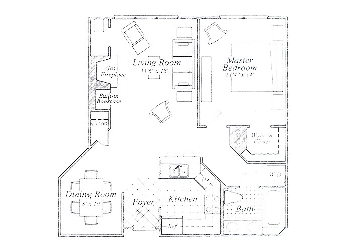 The Fuller One Bedroom One Bath