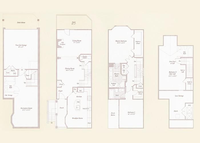 The Hampton Three Bedroom Three Bath