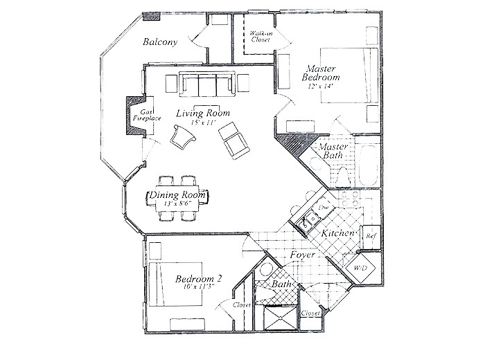 The Rutledge Two Bedroom Two Bath