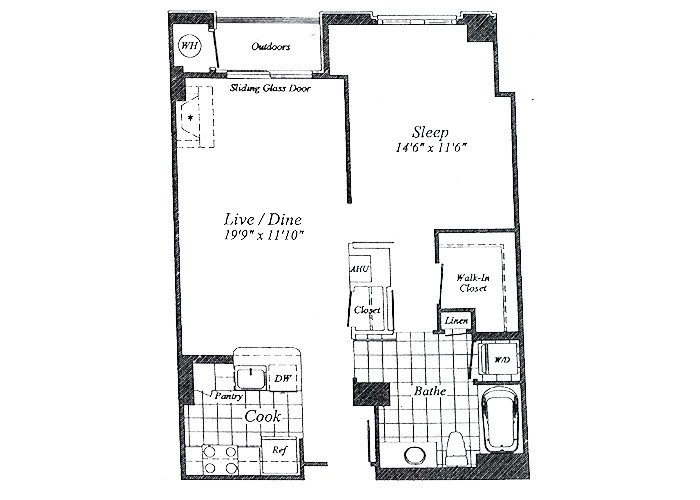 Unit A05 Floor 2-7 One Bedroom