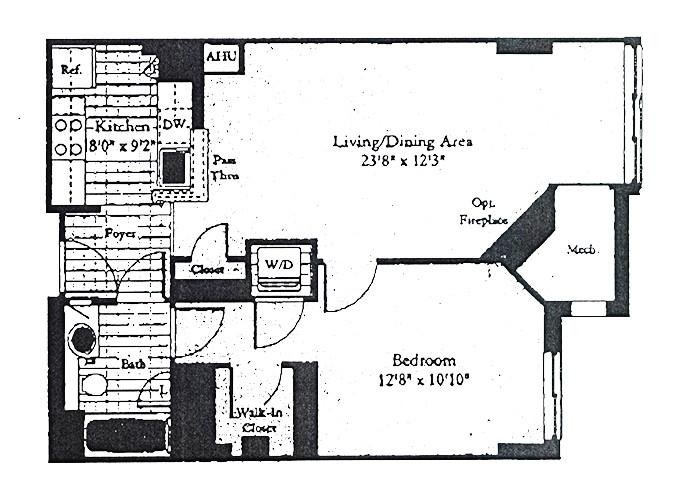 Unit B1B One Bedroom