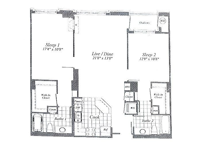 Unit C03 Floor 2-6 Two Bedroom