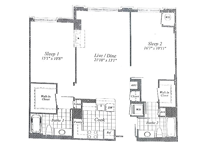 Unit C07 B1 Level & 1st Floor Two Bedroom