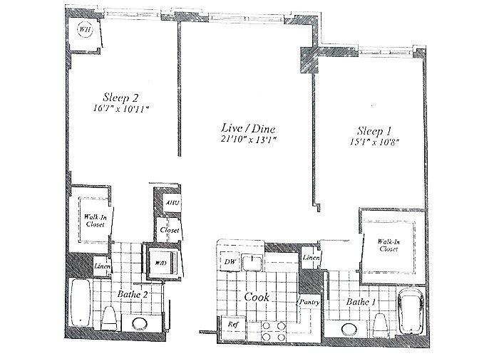 Unit C07(opposite)  B1 Level & 1st Floor Two Bedroom