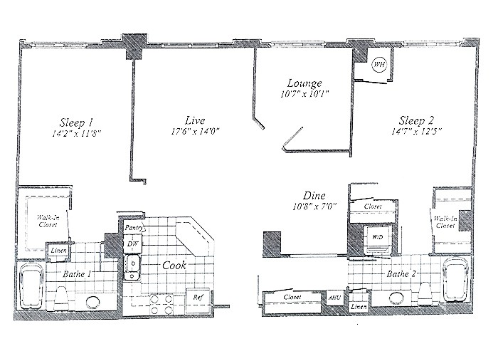 Unit C18 (opposite) 10th Floor Two Bedroom With Lounge